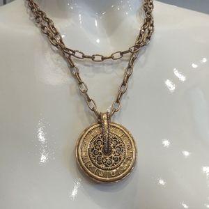 Astrological Star Coin Horoscope pendant necklace